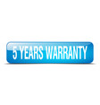 5 years warranty vector image vector image