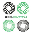 abstract wool logo vector image