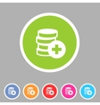 Add money coins wallet icon flat web sign symbol vector image vector image