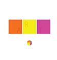 art design color vector image