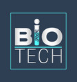 biotechnology logotype logo icon design vector image