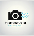 black and sky blue icons for photographer on vector image vector image