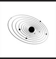 black and white solar system graphic design vector image vector image