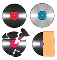black vinyl records vector image