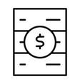 blockchain server line icon minimal pictogram vector image