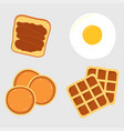 breakfast menu items vector image vector image