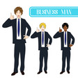 business man thumb up vector image vector image