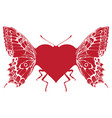 butterfly in form a heart with wings vector image vector image