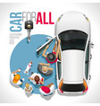 car for all auto for everyone vector image