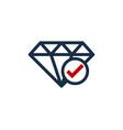 check diamond logo icon design vector image vector image