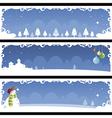 Christmas banner 01 vector image