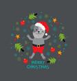 christmas dog xmas puppy animal greeting card vector image vector image