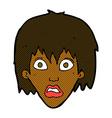 comic cartoon frightened woman vector image vector image