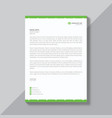 corporate letterhead template vector image vector image