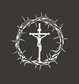crucifixion jesus christ inside crown of vector image