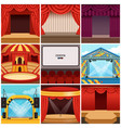 different colorful cartoon stages set vector image