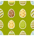 Easter pattern with colorful different eggs vector image