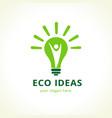 eco ideas logo vector image