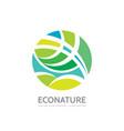 eco nature - logo template concept vector image