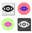 eye flat icon vector image