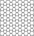 Flat gray with hexagonal bee grid vector image