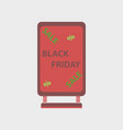 flat icon of signboard black friday vector image vector image