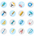 Flat Icons For Tools Related Icons vector image vector image