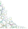 frame with shiny soap bubbles vector image vector image