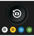 front photo camera sign icon change symbol