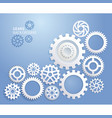 gears background white color vector image vector image