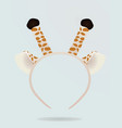 giraffe ears and antenna head band mask vector image