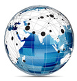 Globe Internet network vector image vector image