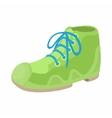 Green boot icon in cartoon style vector image vector image