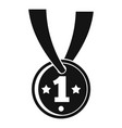 gymnastics gold medal icon simple style vector image vector image