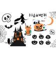 halloween element set vector image