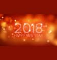 happy new year 2018 background orange vector image