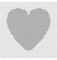 heart shaped background design from black dots vector image vector image