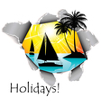 holidays dimension vector image vector image