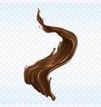 hot chocolate splash realistic vector image vector image