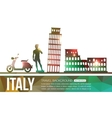 Italy travel background with place for text vector image vector image