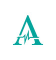 letter a initial logo a-initial medical logo with vector image vector image