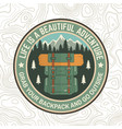 life is a beautiful adventure patch vector image