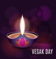 lotus oil lamp vector image