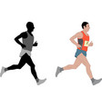 marathon runnerdetailed vector image