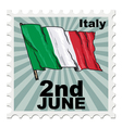 national day of Italy vector image vector image