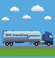 oil transport tank truck vector image