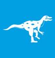 ornithopod dinosaur icon white vector image vector image