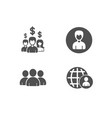 person salary employees and group icons vector image