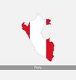 peru map flag vector image