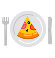 pizza salami icon vector image